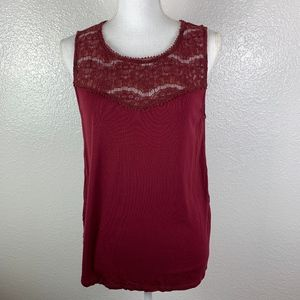 H & M  Maroon  Large sleeveless tank top